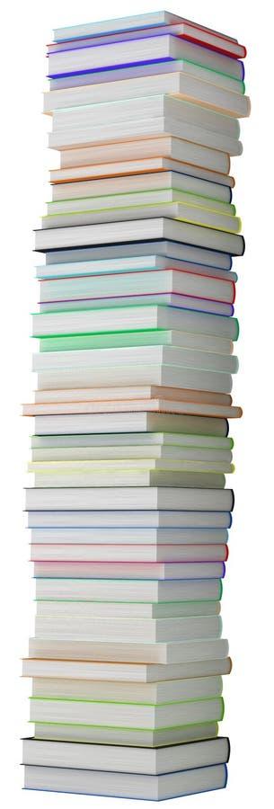 登记教育高hardcovered的堆 皇族释放例证