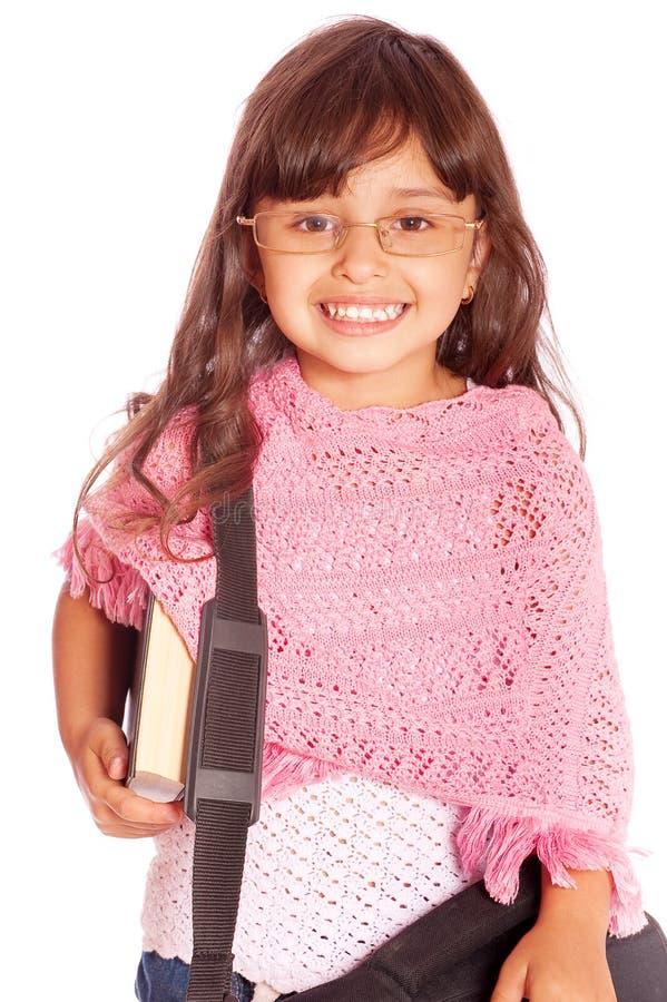登记相当青少年女孩的藏品 免版税库存照片