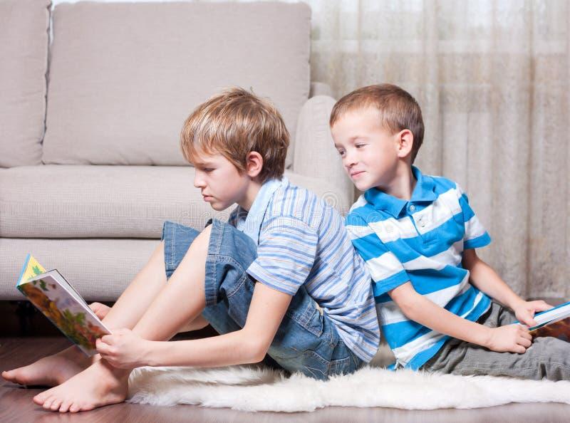 登记读二的兄弟 免版税库存图片