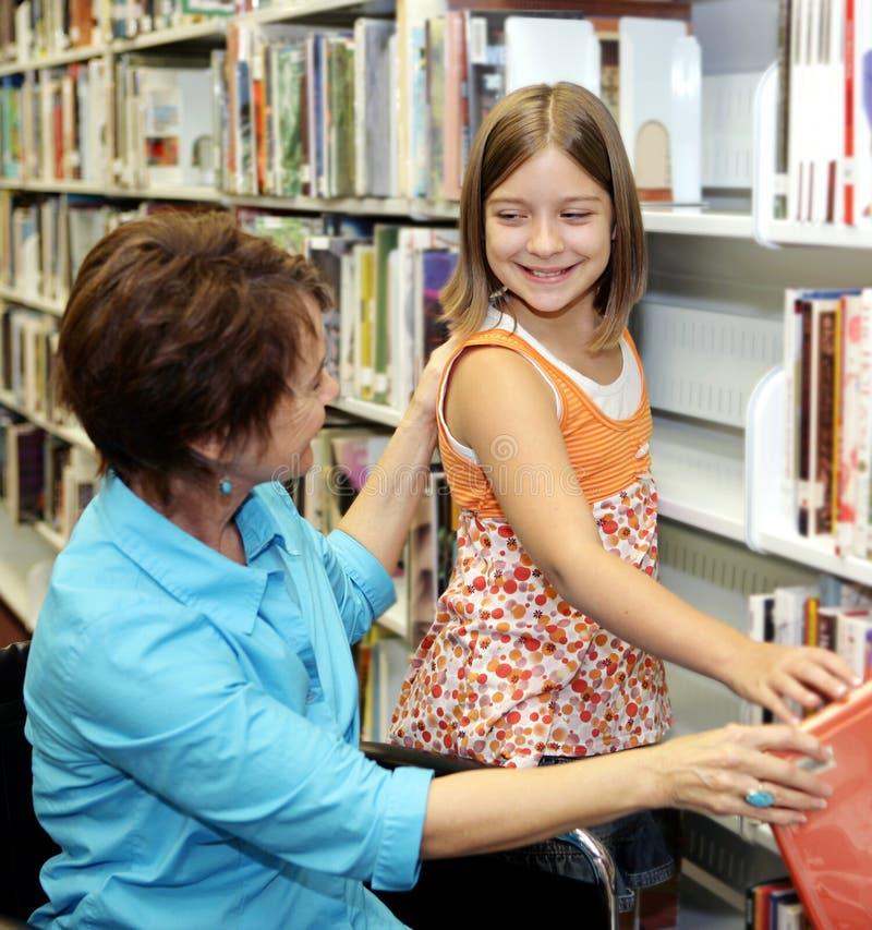 登记选择图书馆学校 免版税库存图片