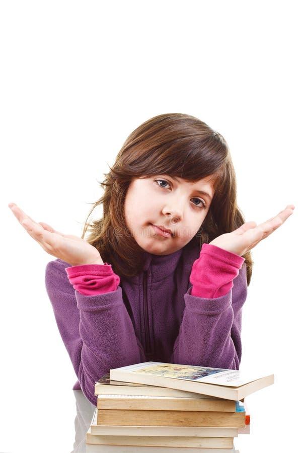 登记逗人喜爱的女孩 免版税库存照片