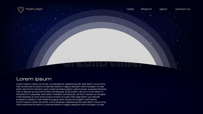 登陆的页、横幅、杂志,海报和许多的摘要剪影五颜六色和嬉戏的背景传染媒介例证设计 向量例证