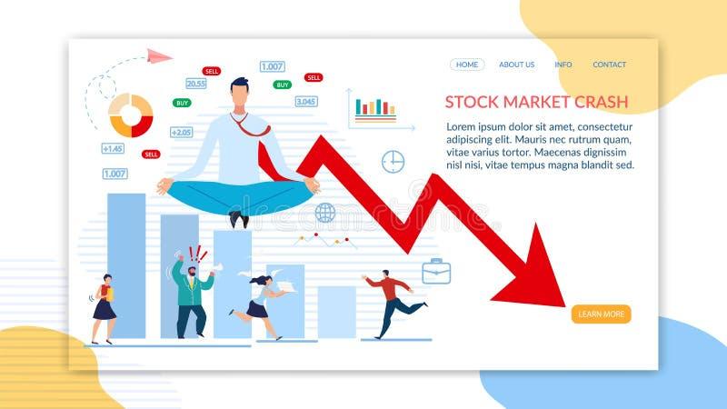 登陆页为股市危机提供支持 库存例证