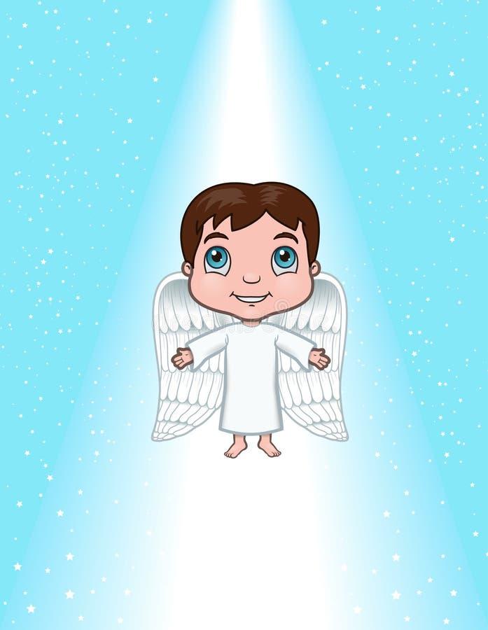 登高的天使 皇族释放例证