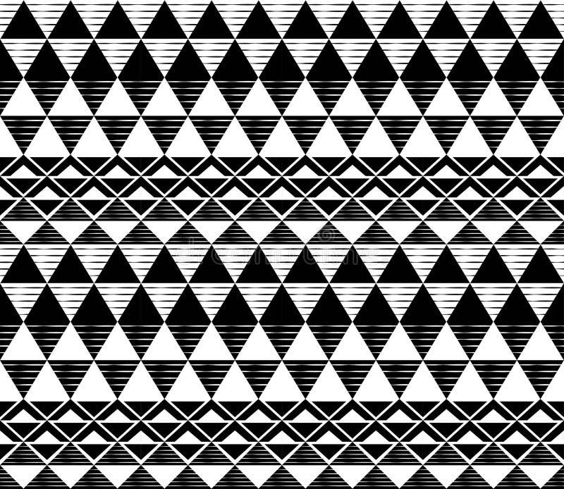 黑白三角样式 图库摄影