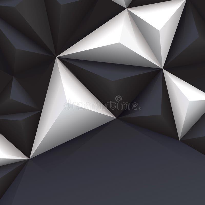 黑白传染媒介几何背景。 库存例证
