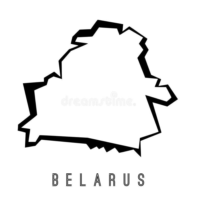 白俄罗斯传染媒介地图 向量例证