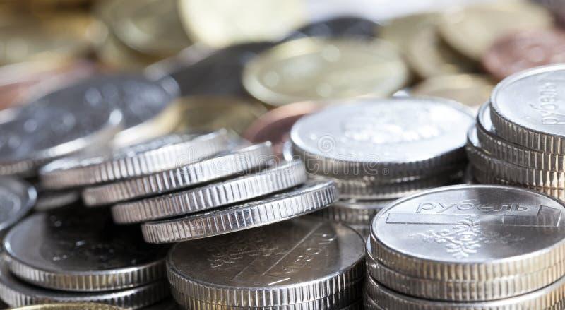 白俄罗斯的混杂的硬币 免版税图库摄影