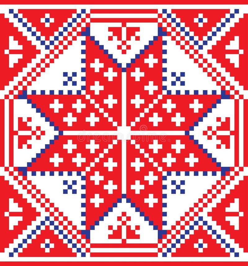 白俄罗斯种族装饰品,无缝的样式 也corel凹道例证向量 皇族释放例证