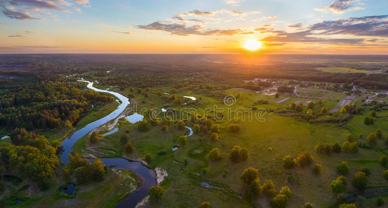 白俄罗斯语风景 免版税库存照片