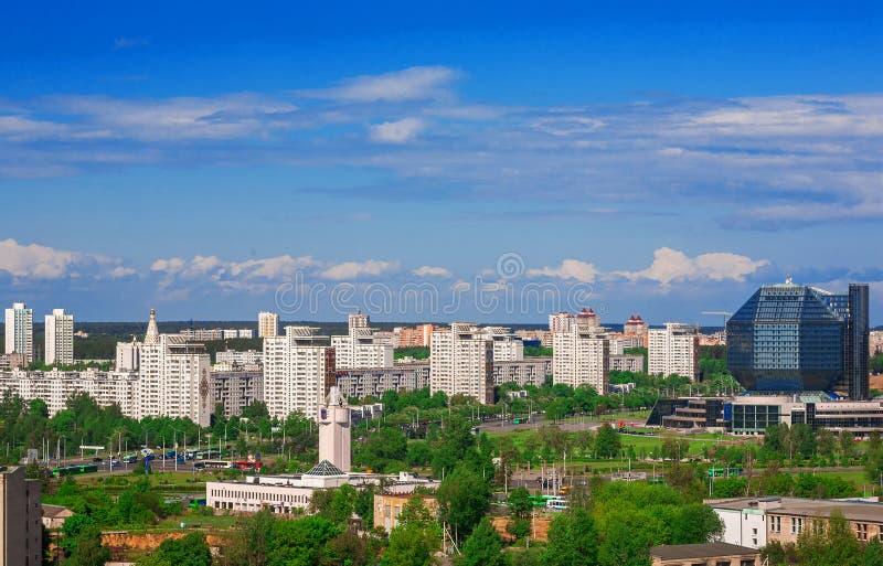 白俄罗斯,米斯克,独立大道 免版税库存照片