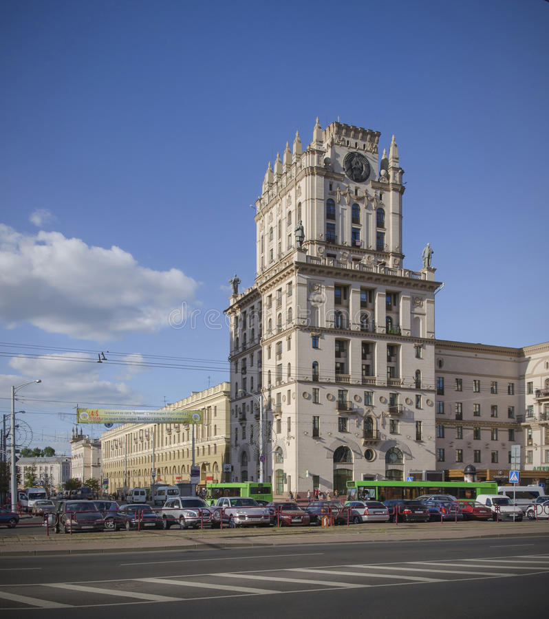白俄罗斯,米斯克:米斯克门  免版税库存图片