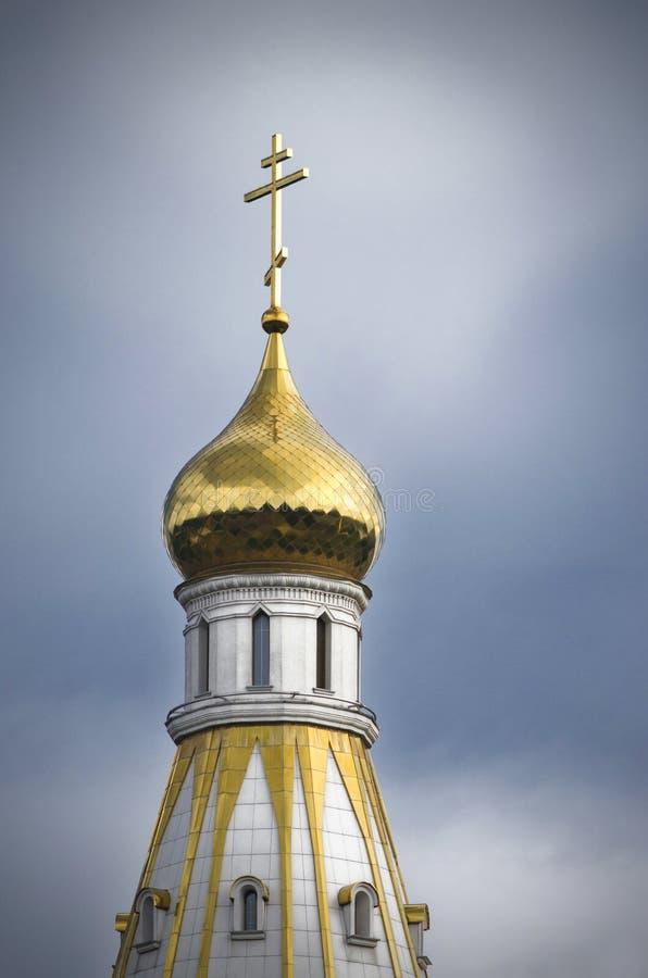 白俄罗斯,米斯克:Vsekhsvyatsky教会主要圆顶  免版税库存图片