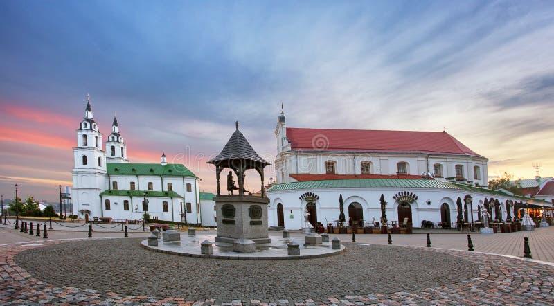 白俄罗斯 — 明斯克东正教主教堂 免版税库存照片