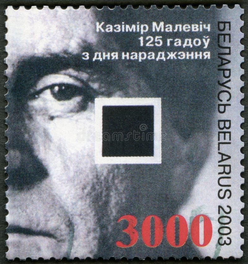 白俄罗斯- 2003年:展示Kasimir Severinovich马列维奇(1878-1935),艺术家 皇族释放例证