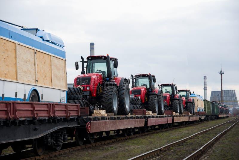 '白俄'新型三门无轨电车 免版税库存照片