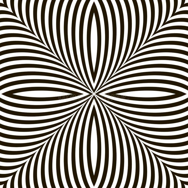 黑白几何传染媒介闪烁错觉 库存例证