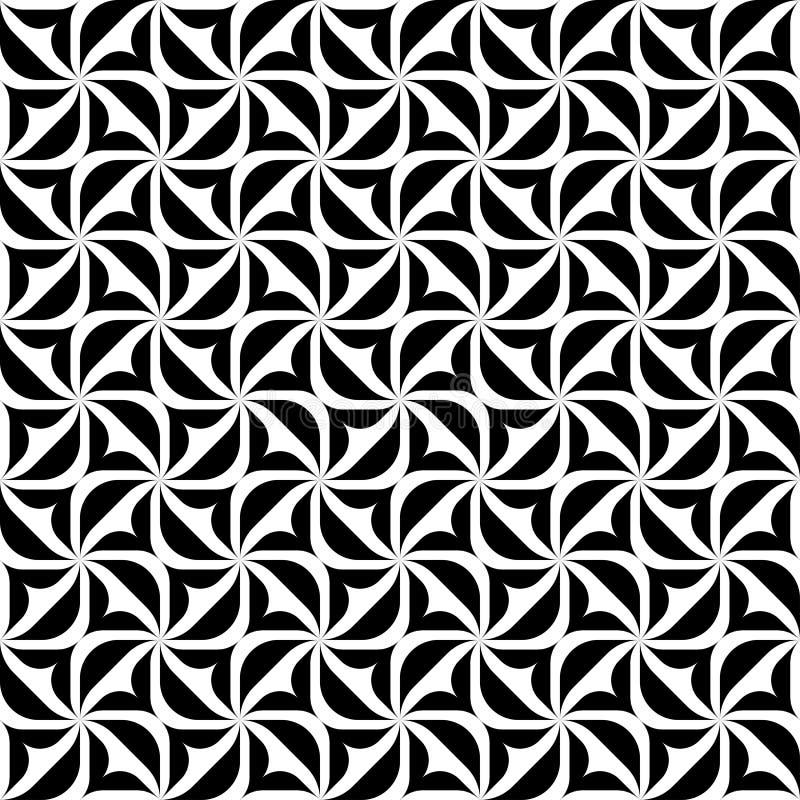 黑白几何无缝的样式,抽象背景 向量例证