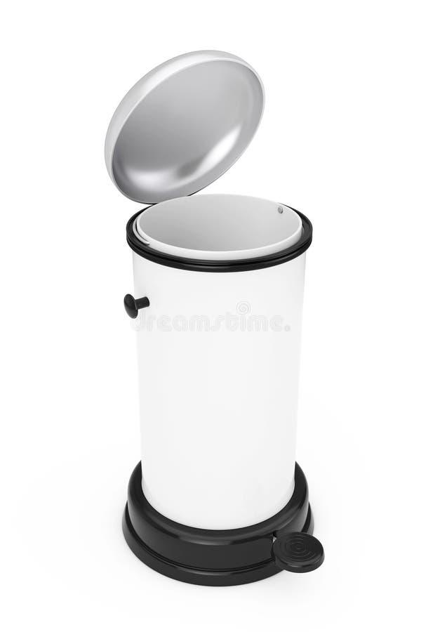 白合金与脚蹬的垃圾箱 3d翻译 向量例证