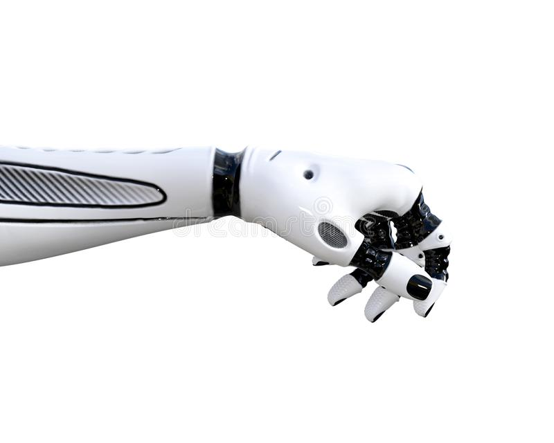 白合金droid手势 库存例证