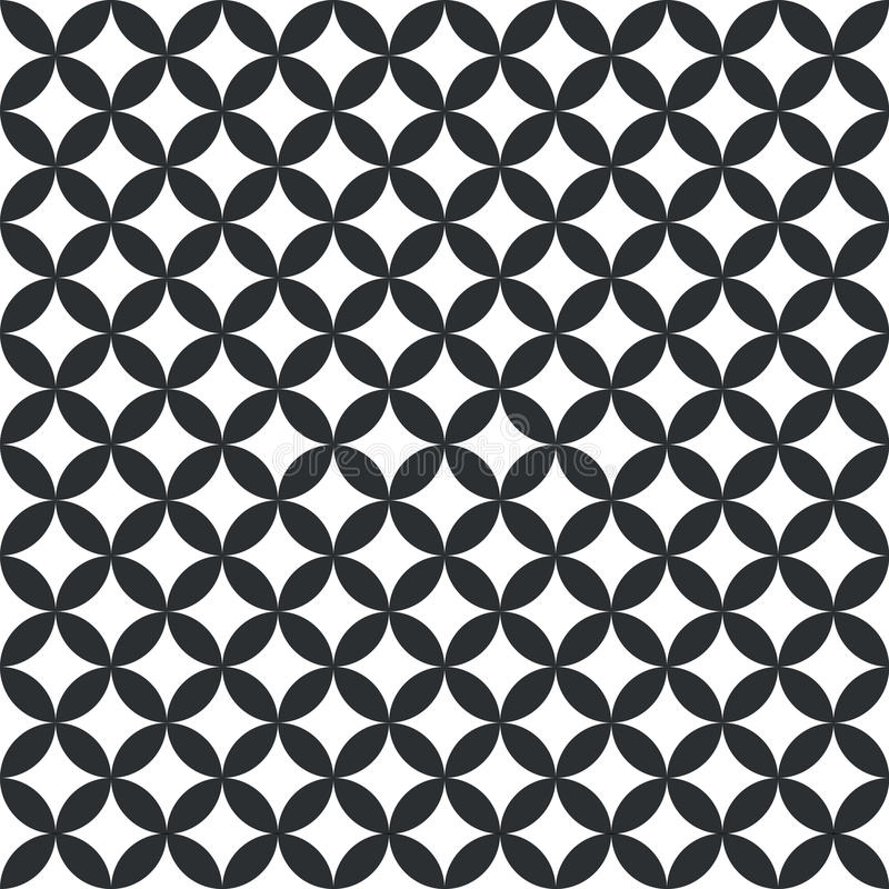 黑白圈子样式 库存例证