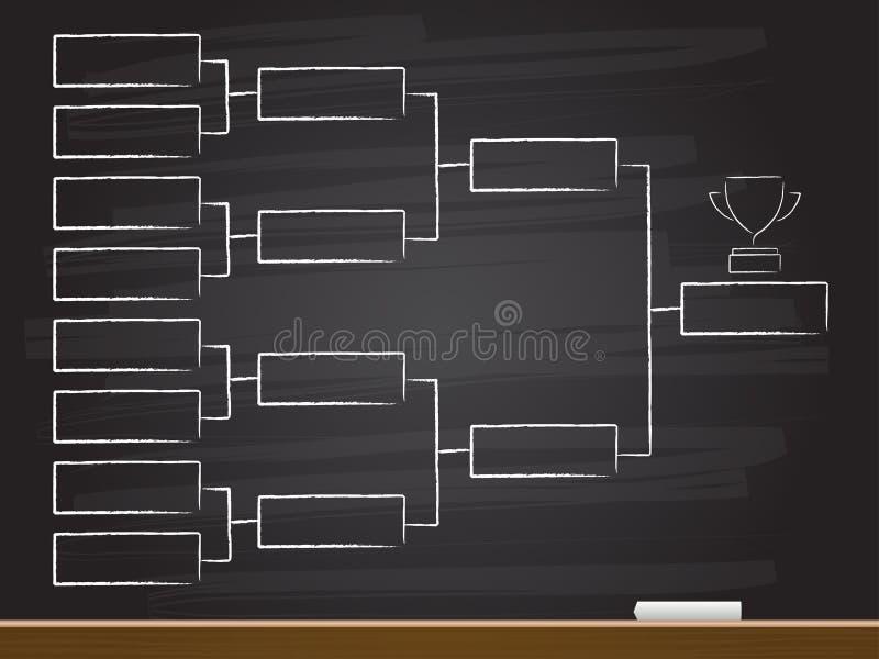 白垩与四分之一决赛图的手图画 r 库存例证