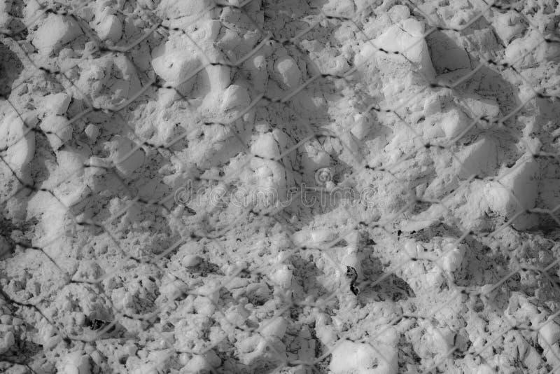 白垩在光滑的海 免版税库存图片