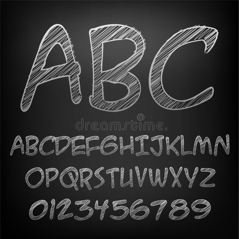 白垩字母表 免版税库存图片