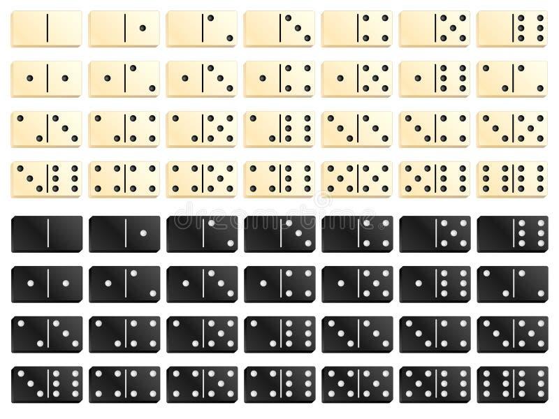 黑白多米诺 向量例证