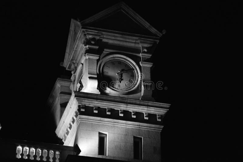 黑白大的时钟 免版税库存图片