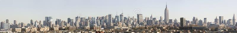 白天曼哈顿全景地平线 免版税库存图片