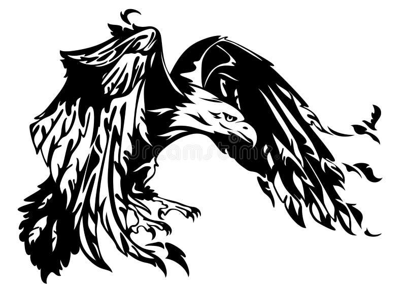 白头鹰向量 皇族释放例证