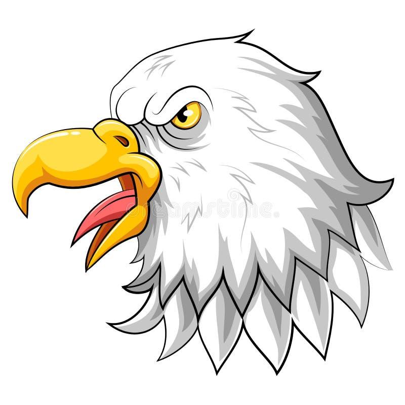 白头鹰头 库存例证