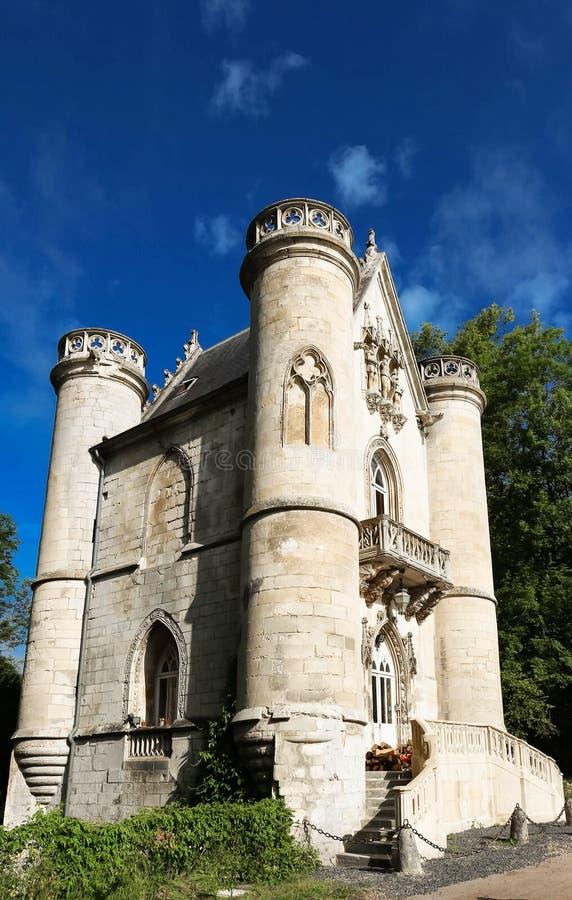 白女王/王后, Coye森林,皮卡第,法国的城堡 免版税库存照片