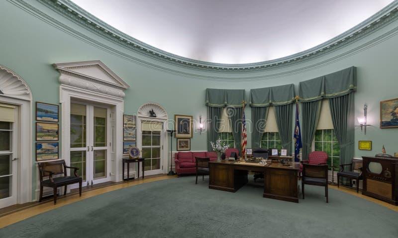 白宫椭圆形办公室 免版税库存图片