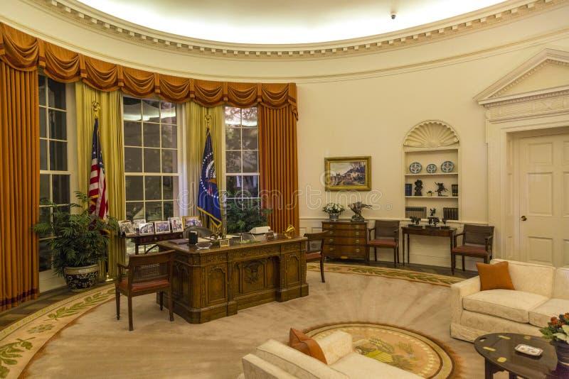 白宫椭圆形办公室 库存照片