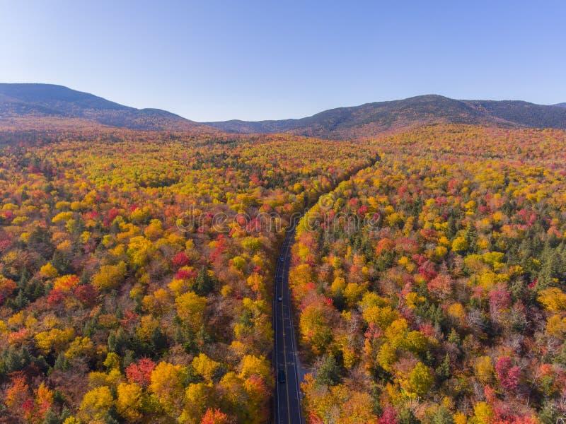 白山国家森林航空视图,美国新罕布什尔 库存图片