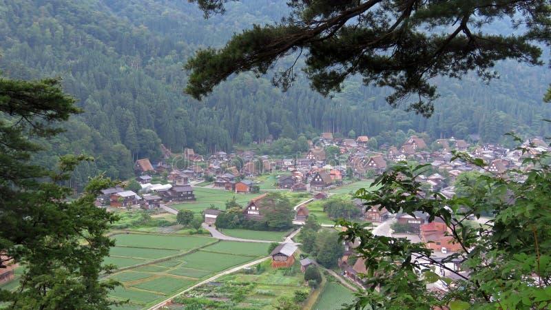 白川町在日本进来 免版税库存照片