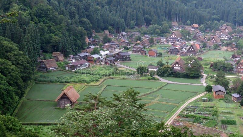 白川町在日本进来 免版税库存图片