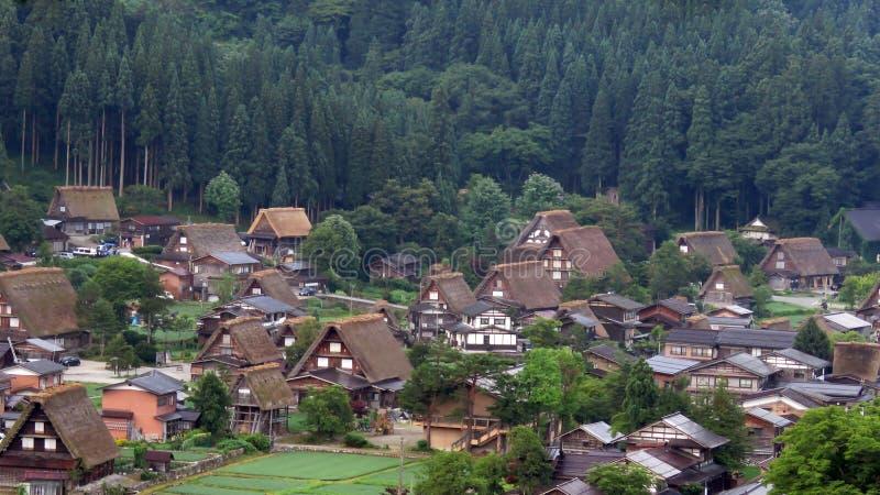 白川町在日本进来 库存照片