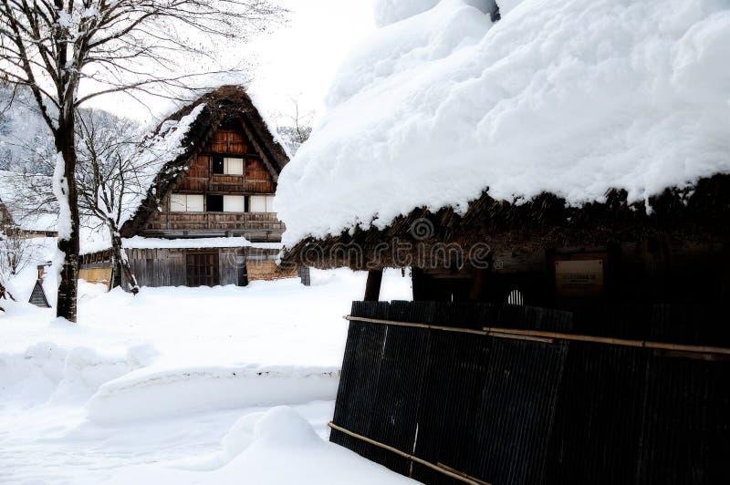 白川町是,日本世界遗产 免版税库存照片