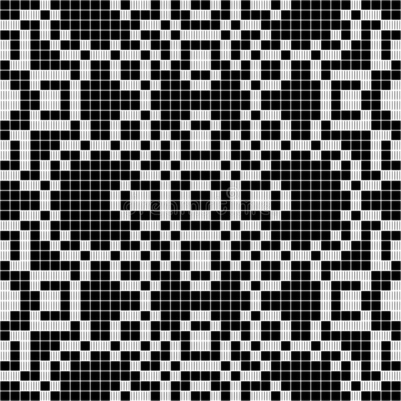 黑白帷幕鞋带无缝的样式的纹理- 向量例证