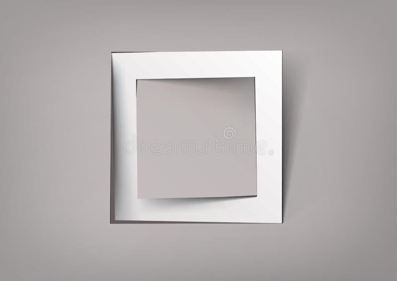 白方块框架 皇族释放例证