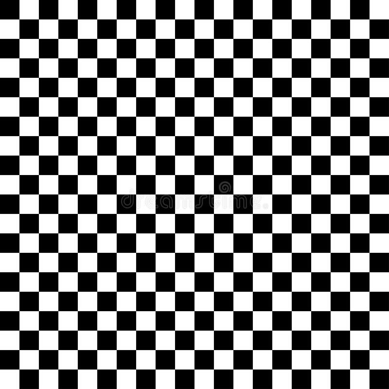 黑白方格的抽象背景 向量例证