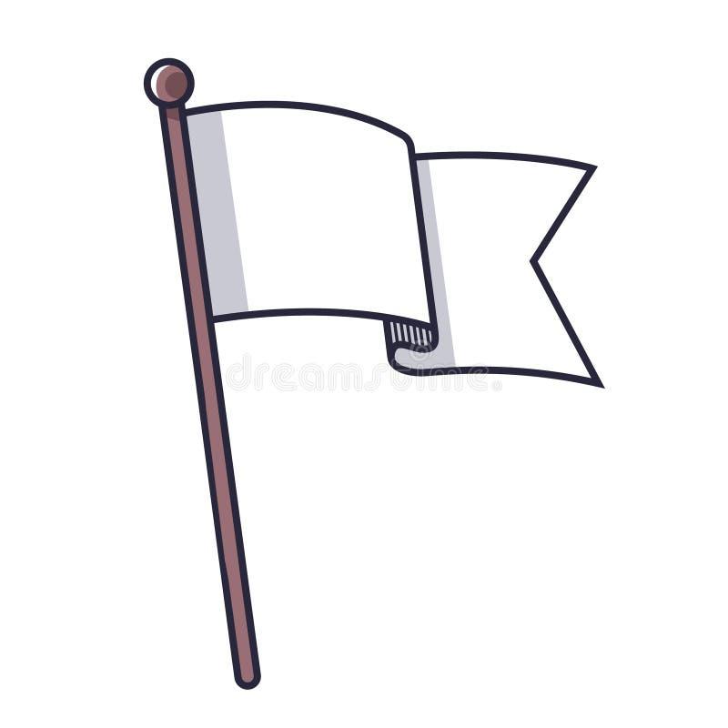 白旗标志 皇族释放例证