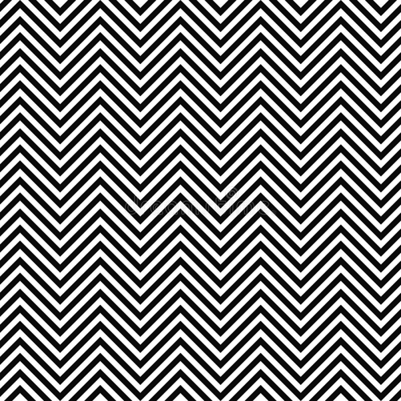 黑白无缝的之字形线样式 皇族释放例证