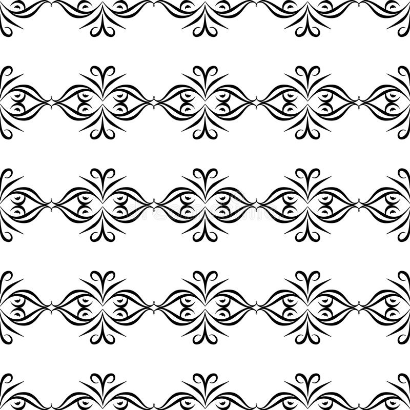 黑白无缝的几何啪答声,背景设计 现代时髦的纹理 重复和编辑可能 能为印刷品使用 向量例证