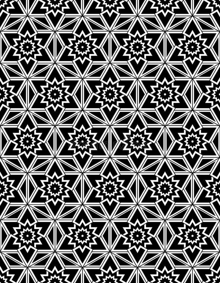 黑白无缝的样式神圣的几何 皇族释放例证