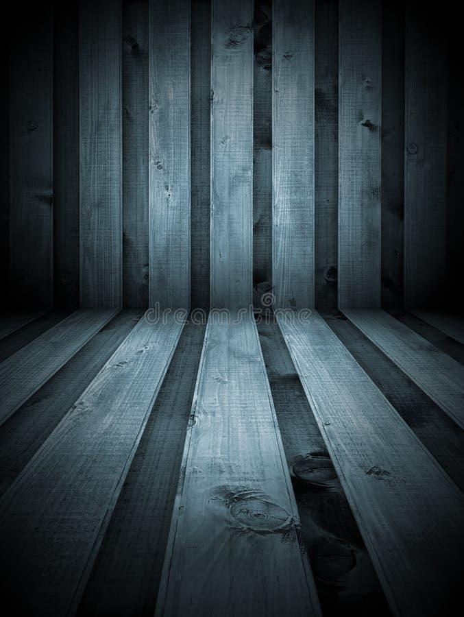 黑白木室 库存图片
