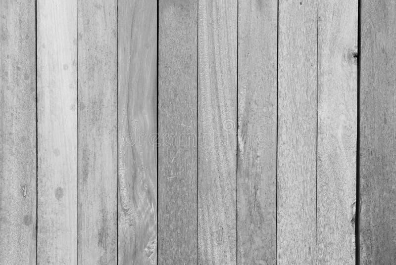 黑白木板条褐色纹理 免版税库存照片